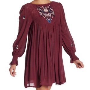 Free People Mohave Embroidered Woven Mini Dress